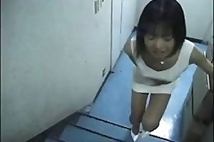 Pooping Japanese lady